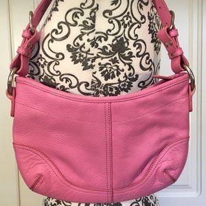 DANIER NWOT Pink Pebbled Leather Shoulder/Hand Bag